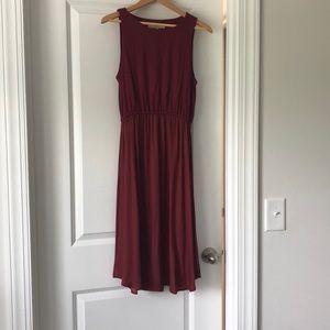 Beautiful burgundy dress.